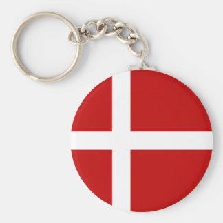 Totally Denmark Flag Key Ring
