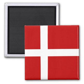 Totally Denmark Flag Square Magnet