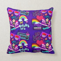 Totally Eighties Purple Collage Cushion