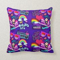 Totally Eighties Purple Collage Cushion