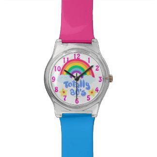 Totally Eighties Rainbow Motto Wristwatches