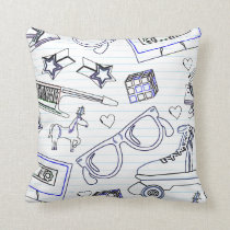 Totally Epic Eighties Doodle Cushion