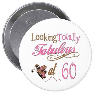 Totally Fabulous 60th Birthday 10 Cm Round Badge