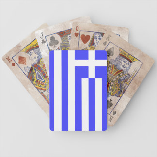 Totally Flag of Greece Bicycle Playing Cards