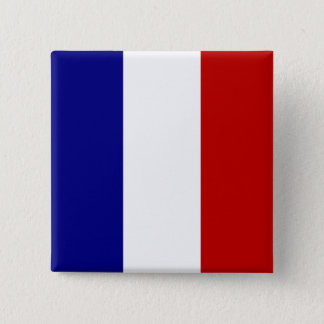 Totally French Flag 15 Cm Square Badge