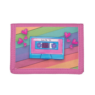 Totally Fun Eighties Mixtape Tri-fold Wallets