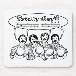 Totally Gay Barbershop Quartet Mouse Pad