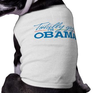 Totally Gay for Obama Sleeveless Dog Shirt