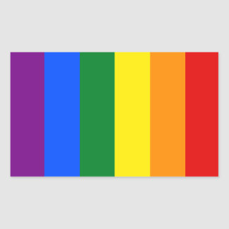 Totally Gay Pride Flag Rectangular Sticker