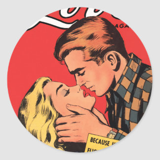 Totally in Love Classic Round Sticker
