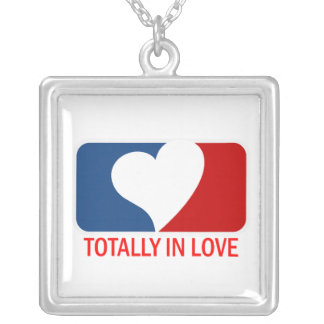 Totally in Love Square Pendant Necklace