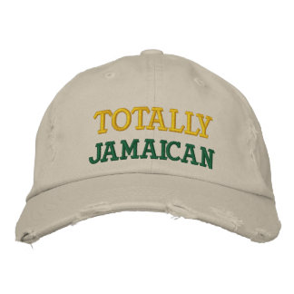 Totally Jamaica Chino Cap Embroidered Hat