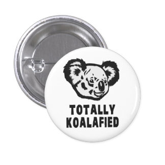 Totally Koalafied Koala 3 Cm Round Badge