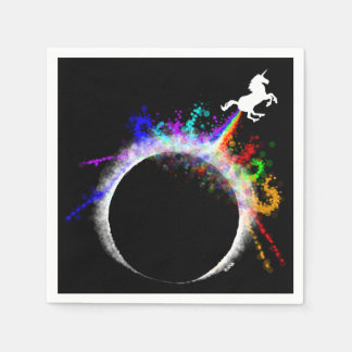 Totally magical eclipse paper napkin