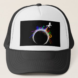 Totally magical eclipse trucker hat