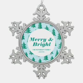 Totally Modern Christmas Trees Pewter Snowflake Decoration