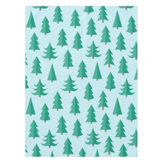 Totally Modern Christmas Trees Tablecloth