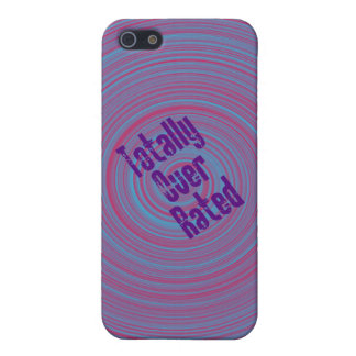 """""""Totally Over Rated"""" Swirl Case iPhone 5 Cases"""