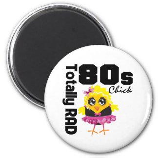 Totally RAD 80s Chick Fridge Magnet