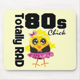Totally RAD 80s Chick Mouse Pad