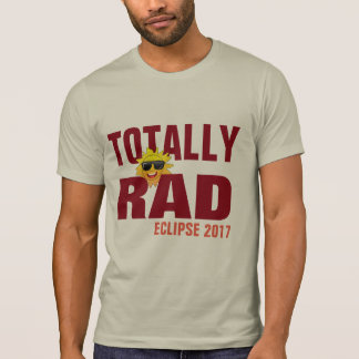 totally rad eclipse 2017 hipster t-shirt design