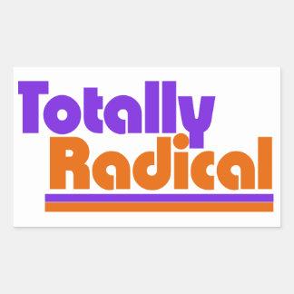 Totally RADICAL Rectangular Sticker