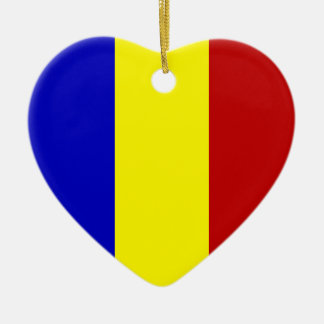 Totally Romanian Flag! Ceramic Heart Decoration