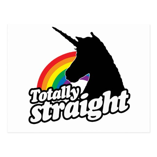 TOTALLY STRAIGHT UNICORN -.png Post Card
