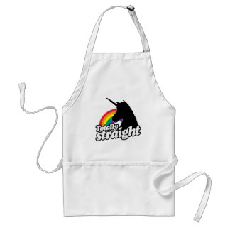 TOTALLY STRAIGHT UNICORN -.png Standard Apron