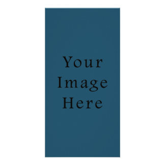 Totally Teal Blue Color Trend Blank Template Custom Photo Card