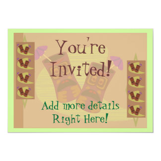 Totally Tiki! 13 Cm X 18 Cm Invitation Card