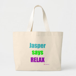 "TotallyJazzy ""Relax"" Large Tote Bag"