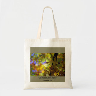 Tote bag Bible verse