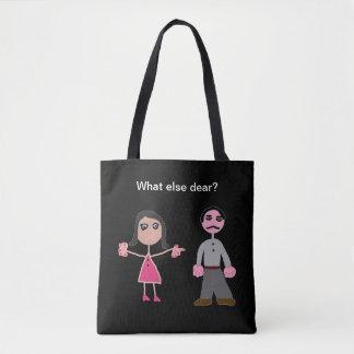 Tote bag black custom marriage