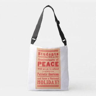 Tote bag, broadside Armistice Day, circa 1919
