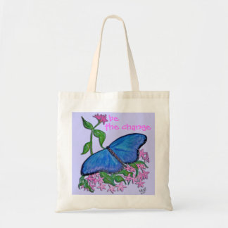 Tote Bag - Butterfly Blue