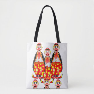 tote bag clowns circus