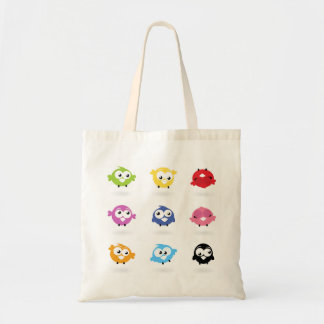 Tote bag : colorful birds