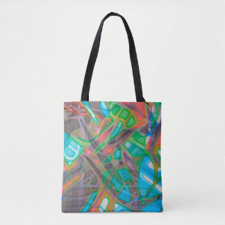 Tote Bag Colorful Stained Glass