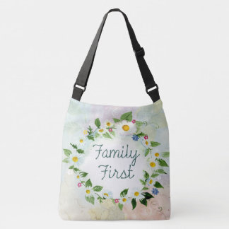 tote bag cute family first flowers