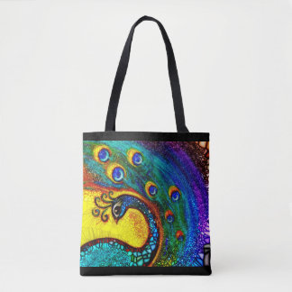 "Tote Bag ""Dancing Peacock"""