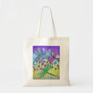 tote bag -delightful dragonflies