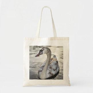 Tote Bag featuring beautiful Swan