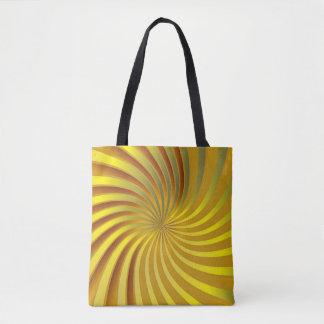 Tote Bag Gold Spiral Vortex