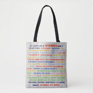 Tote Bag Heart Lies in Winona Expanded Version
