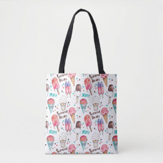 Tote Bag Illustrated Ice Cream & Popsicles