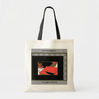 Tote Bag - Japanese Kanji and Red Dishes