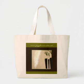 Tote Bag, Large - Feather and Vase 3