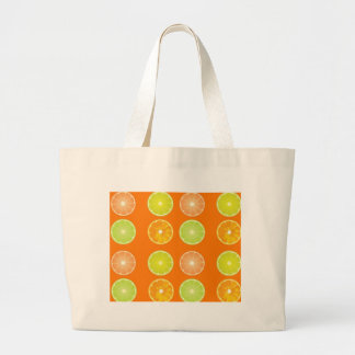 Tote bag lemon and oranges slices.