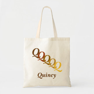 Tote Bag - Letters and Name in Browns